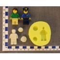 Silikonová formička  Ornament Lego panáčik 242